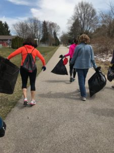 Earth Day trail clean up