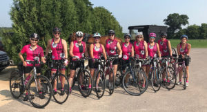 Team tour de friends at ride to read fundraiser