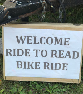 welcome to ride to read sign